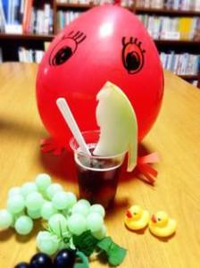 Hina Cafe看板メニュー・フルーツポンチ(メロン付き)