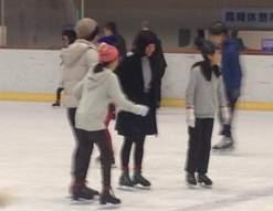 楽しくスケート中♪