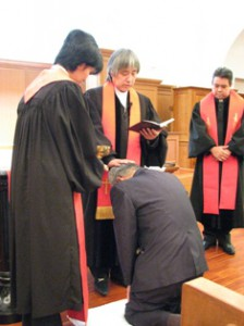 洗礼式の様子